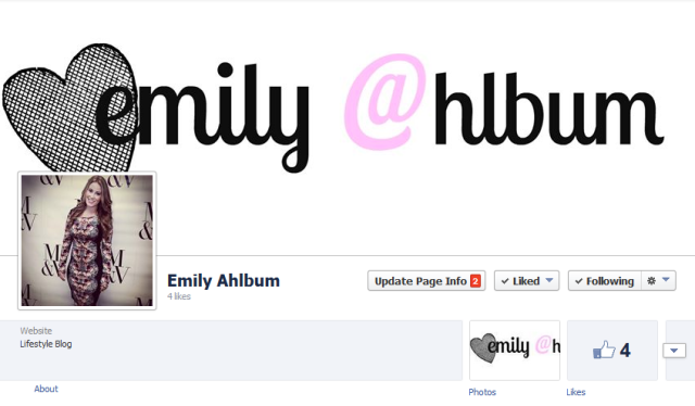 emilyahlbum.com is now on Facebook!